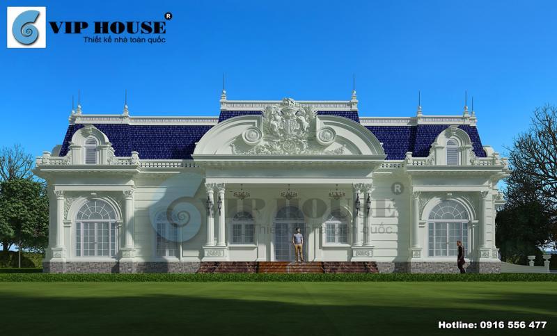 Tư vấn thiết kế biệt thự kiểu Pháp 1 tầng đẹp