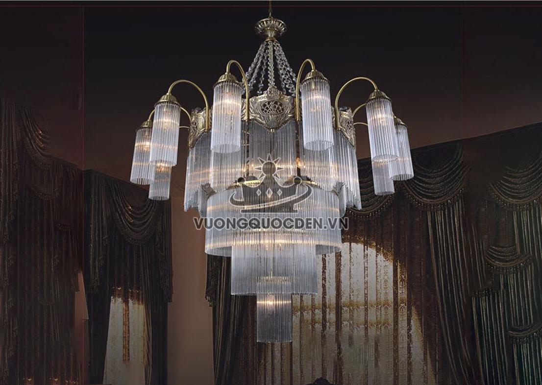 Tư vấn đèn chùm pha lê phòng khách giá bao nhiêu?