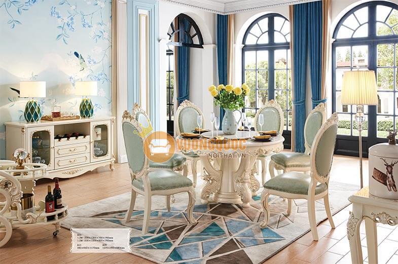 Giá nội thất phòng khách tân cổ điển nhập khẩu