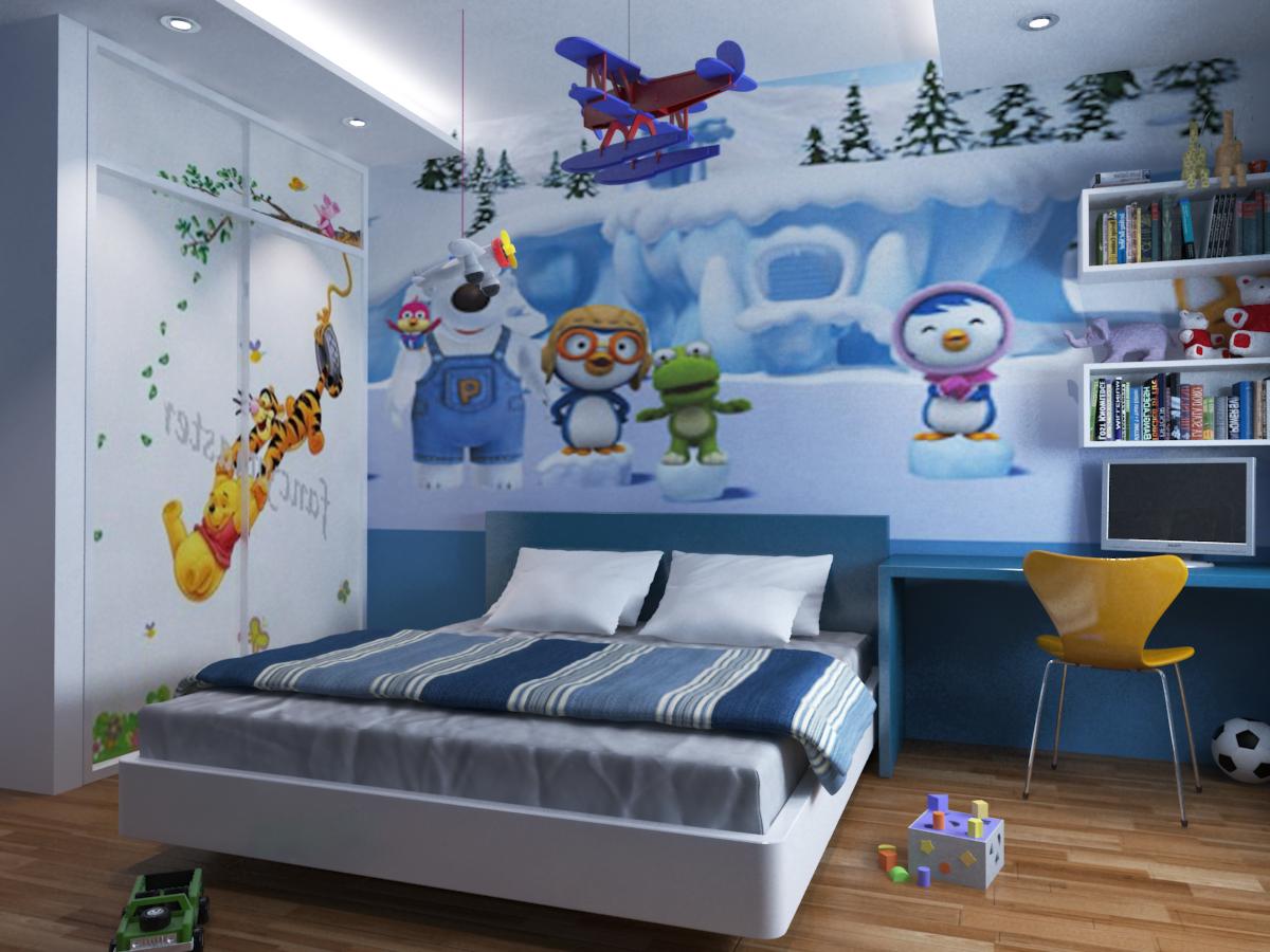 Trang trí phòng ngủ đẹp cho bé trai bằng phụ kiện