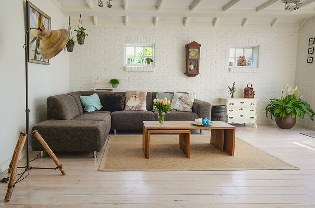 Nội thất phòng khách hiện đại với thiết kế không cầu kỳ