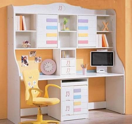 Mẫu bàn học trẻ em có giá sách thiết kế đa năng