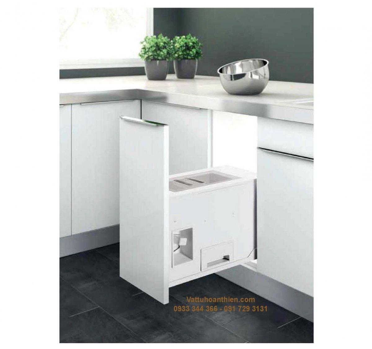 Tủ bếp với thiết kế tủ đựng gạo
