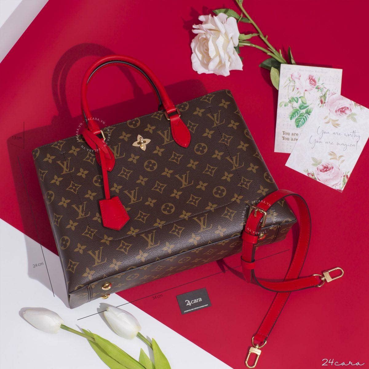 Các mẫu túi xách Louis Vuitton Flower Tote tại 24cara