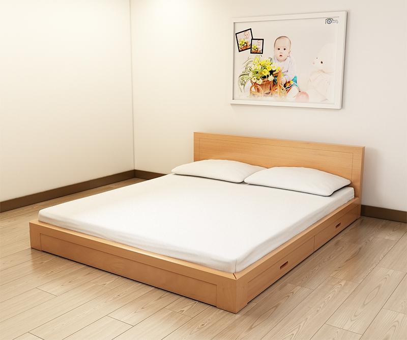 Giường gỗ đơn giá rẻ TP.HCM