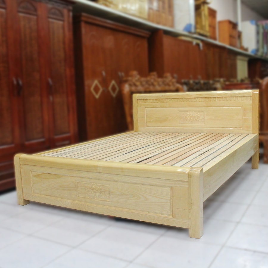 Giường gỗ sồi giá rẻ TP.HCM